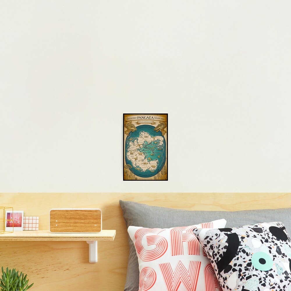 map of the supercontinent Pangaea Photographic Print