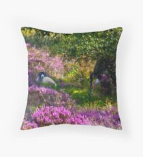Resting amongst the Heather Throw Pillow