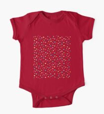Bright colorful watercolor dots One Piece - Short Sleeve
