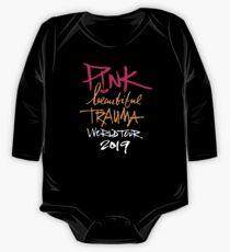 Body de manga larga para bebé Pink Beautiful Trauma World Tour 2019