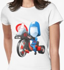 Cobra Commander on 80's big wheel Womens Fitted T-Shirt