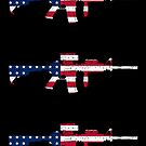 M4 Carbine American Flag by nothinguntried