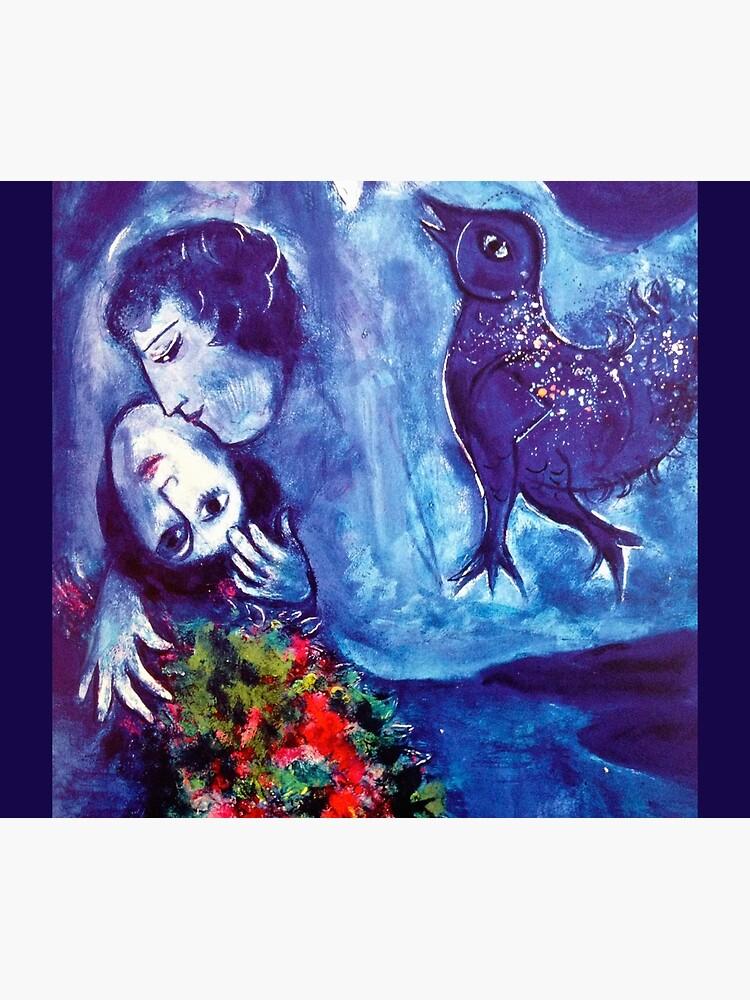 Marc Chagall, Le Paisage Bleu 1949 Artwork, Posters Tshirts Prints Bags Men Women Kids by clothorama