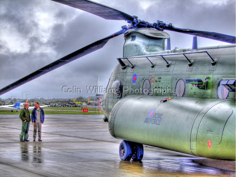 Chinook In The Rain HDR - Shoreham Airshow 2010 by Colin  Williams Photography