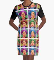Pussy Pop Art Graphic T-Shirt Dress