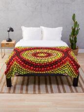 Earthy tones Mandala pattern Throw Blanket