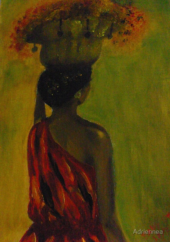 Quot African Woman Carrying A Basket On Her Head Quot By