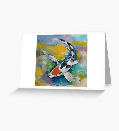 Tancho Sanke Koi Greeting Card