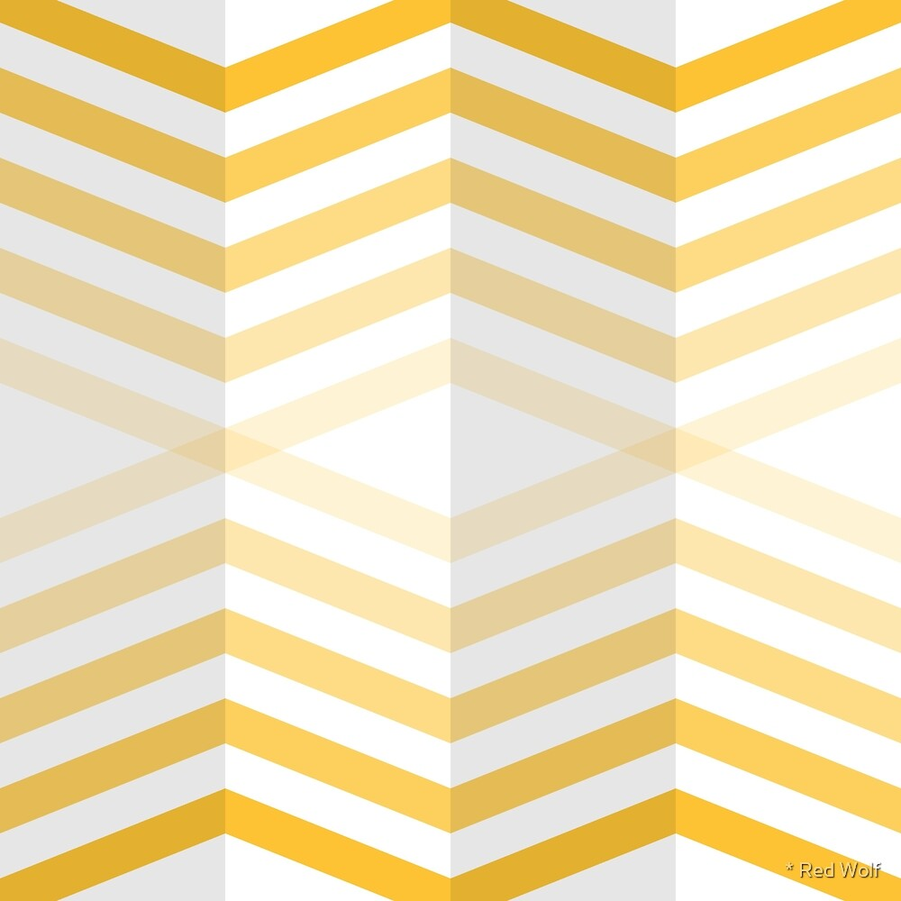 Geometric Pattern: Chevron Cascade: Yellow Light by * Red Wolf