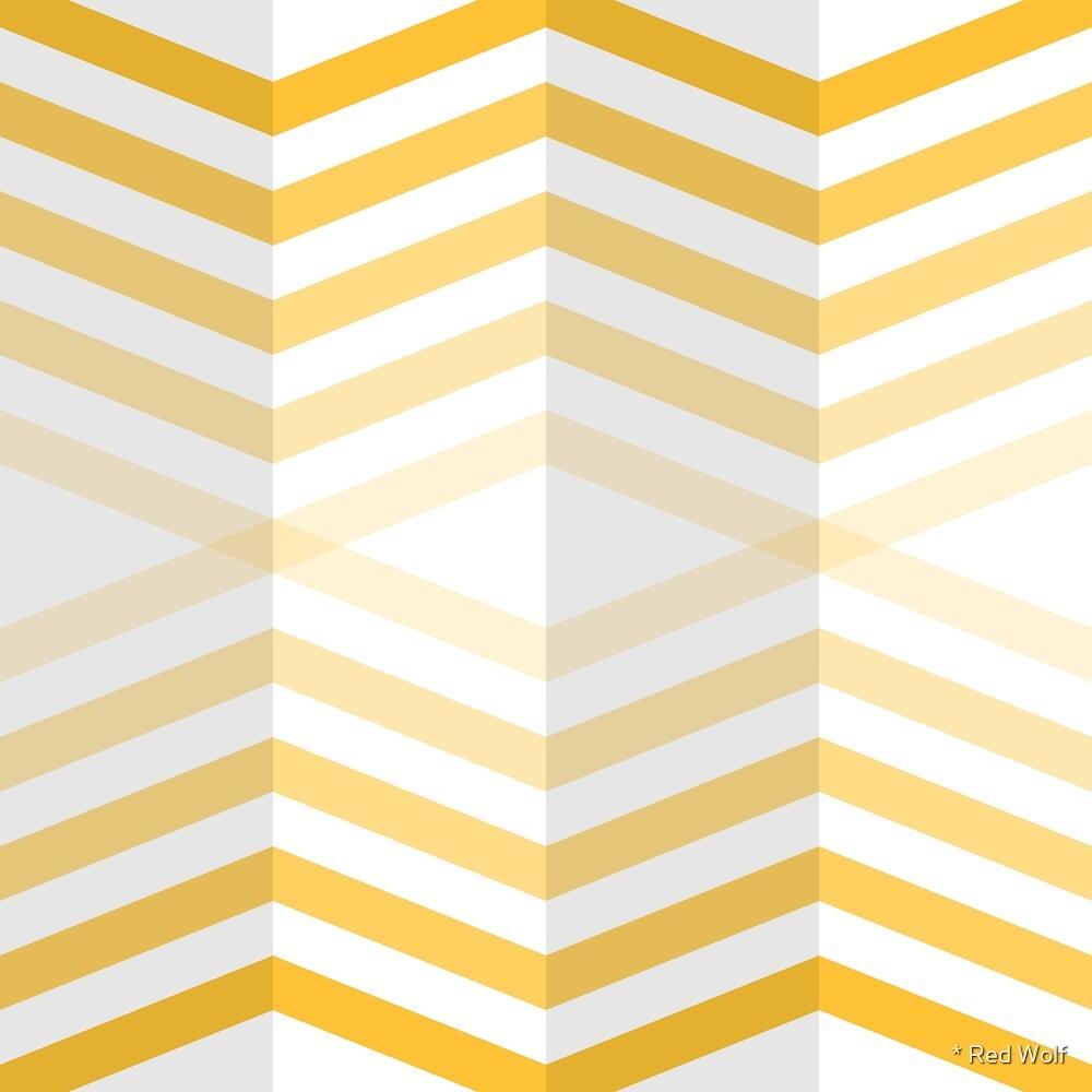 Geometric Pattern: Chevron Cascade: Yellow Light by * Red Wolf