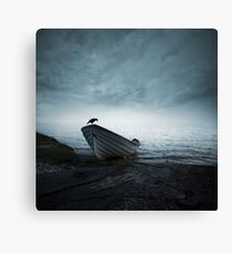 Mystery of the foggy lake Canvas Print