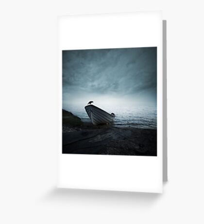 Mystery of the foggy lake Greeting Card