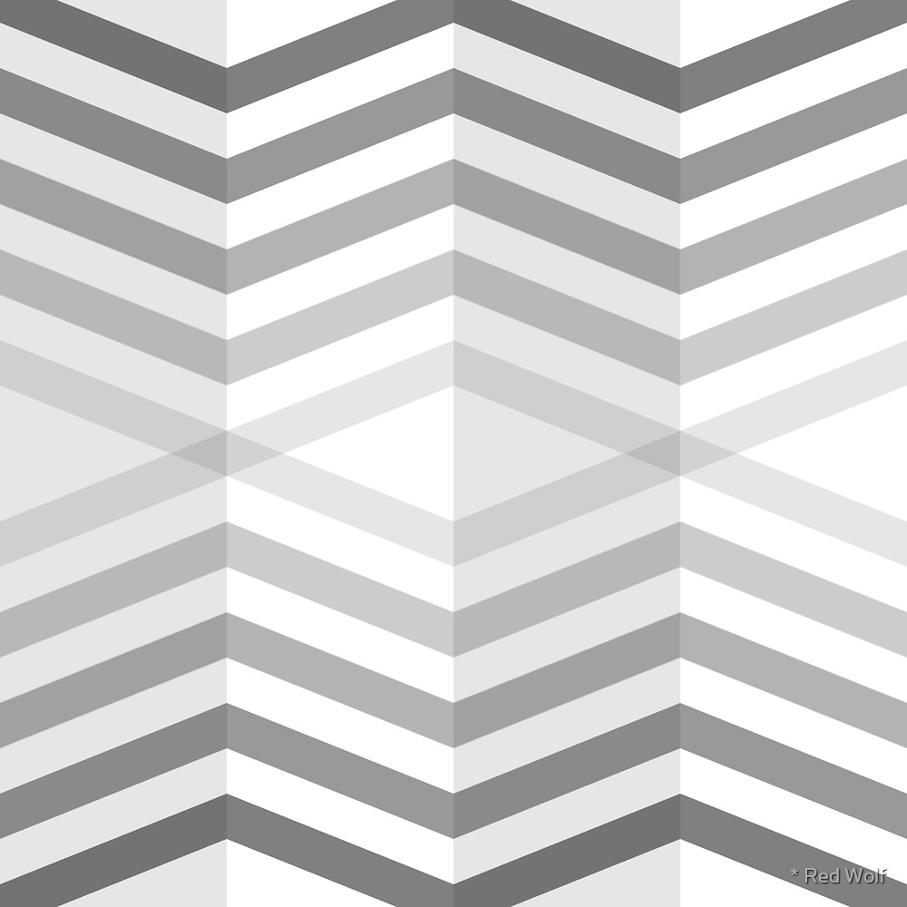 Geometric Pattern: Chevron Cascade: Grey by * Red Wolf