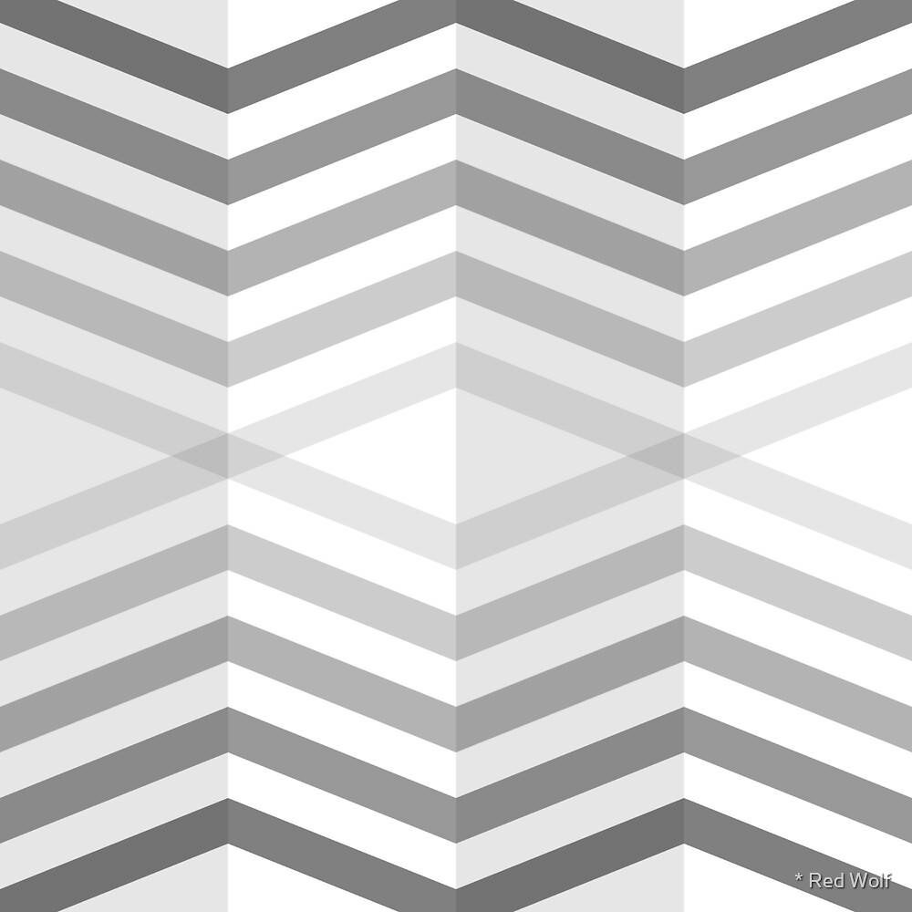 Geometric Pattern: Chevron Cascade: Grey by * Red Wolf