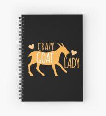 Crazy GOAT lady Spiral Notebook