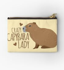 Crazy Capybara lady Zipper Pouch