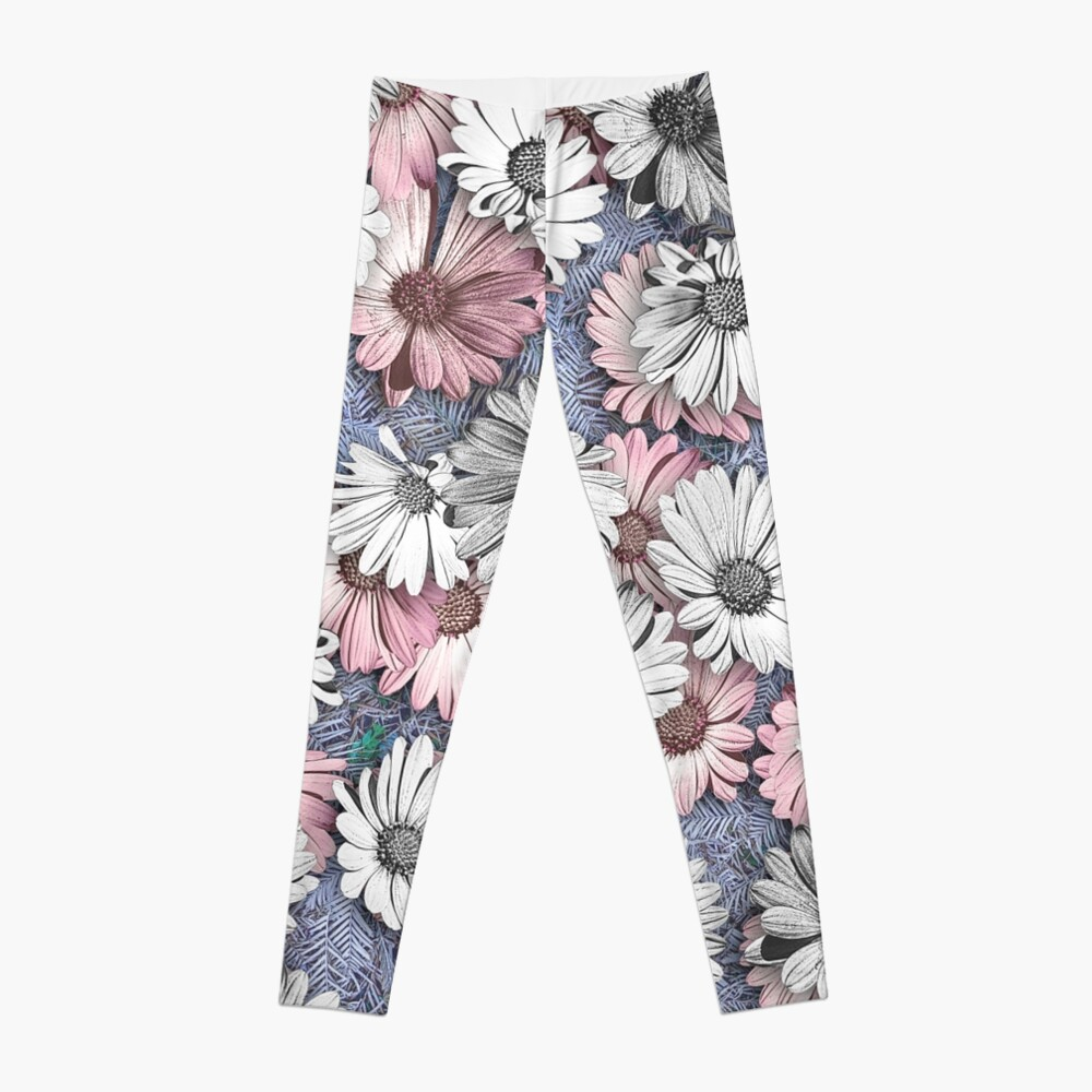 AFRICAN DAISIES ON THE FOREST FLOOR COLLAGE 2 Leggings