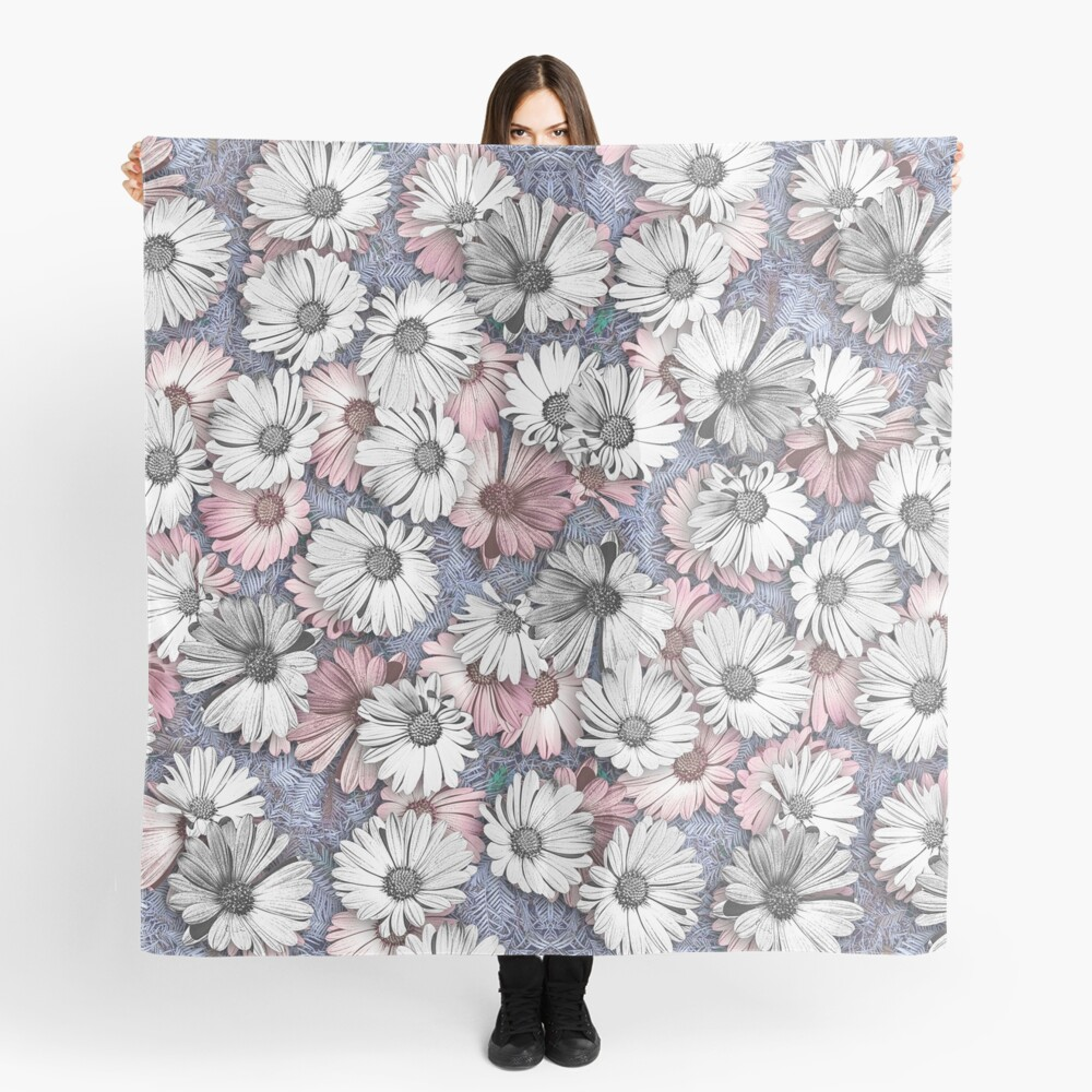 AFRICAN DAISIES ON THE FOREST FLOOR COLLAGE 2 Scarf