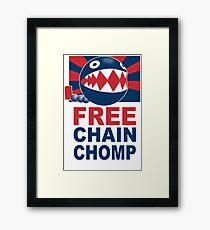 Free Chain Chomp Funny T-Shirt & Hoodies Framed Print