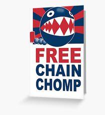 Free Chain Chomp Funny T-Shirt & Hoodies Greeting Card