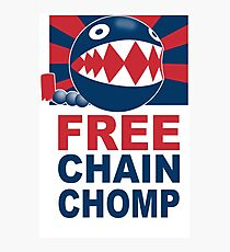 Free Chain Chomp Funny T-Shirt & Hoodies Photographic Print