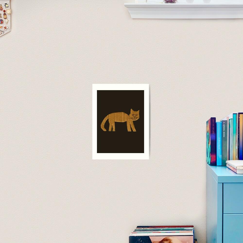 Simple cat Art Print