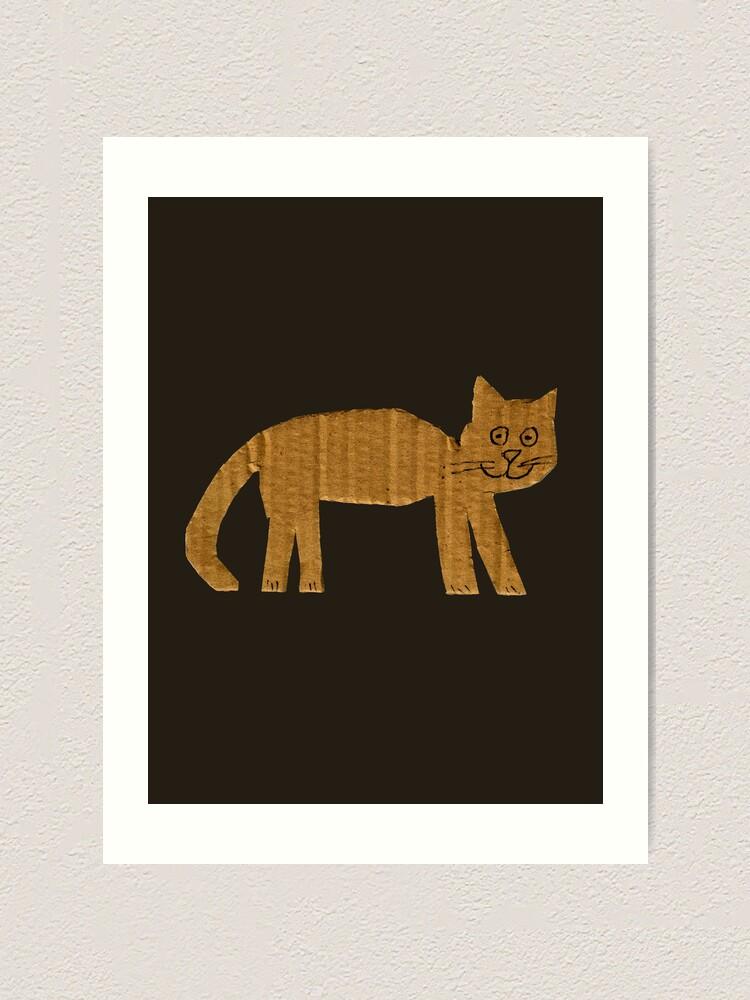 Alternate view of Simple cat Art Print