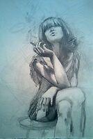 smoker by Natasa Ristic