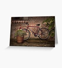 Red Bike Story Greeting Card