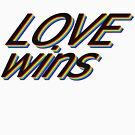 LGBT love wins rainbow color von zebrabyte