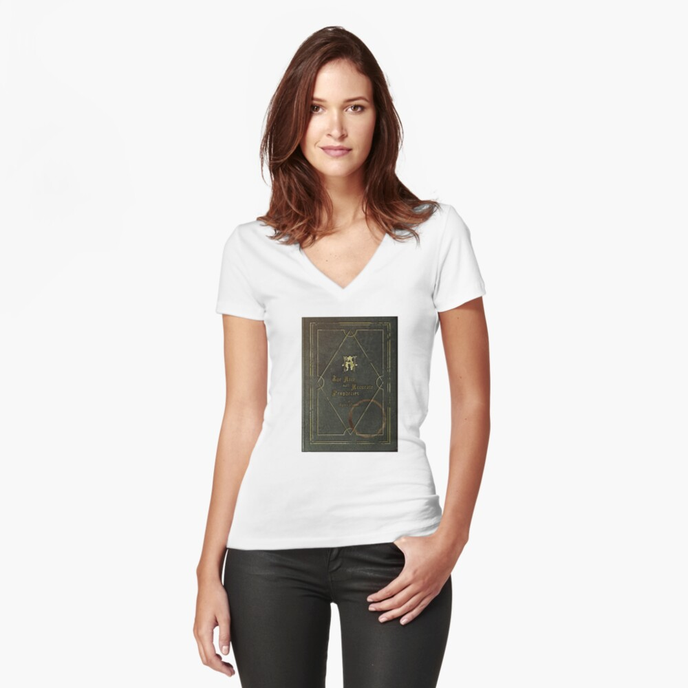the nice and accurate prophecies of agnes nutter Fitted V-Neck T-Shirt