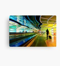 Moving Walkway at Chicago O'Hare, Terminal 1 Canvas Print
