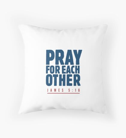 Pray for each other - James 5:16 Floor Pillow