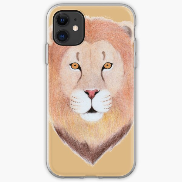African Lion iPhone Soft Case