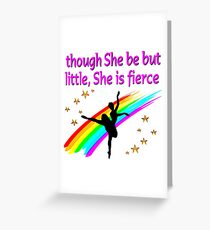 BEAUTIFUL AND GRACEFUL DANCER DESIGN Greeting Card