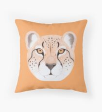 African Cheetah Throw Pillow
