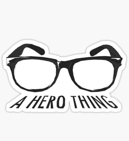 A super hero needs a disguise! Sticker