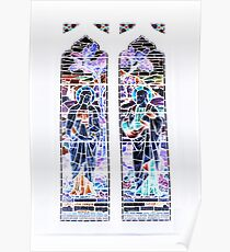 Negative Stained Glass Poster