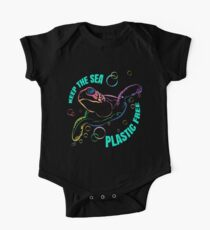 Plastic Free Sea No Six Pack Rings or Plastic Bags Baby Body Kurzarm