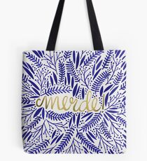 Pardon My French – Navy & Gold Tote Bag