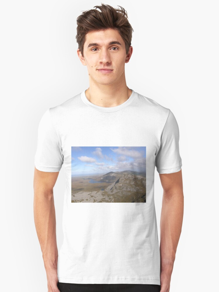 Mountain range view from Errigal Mountain Donegal Ireland Unisex T-Shirt Front
