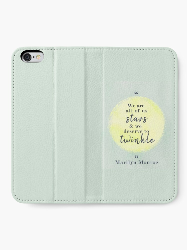 Alternate view of Marilyn Monroe Quote iPhone Wallet
