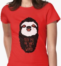 Evil Sloth Women's Fitted T-Shirt
