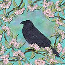 Raven and Apple Blossom by lottibrown
