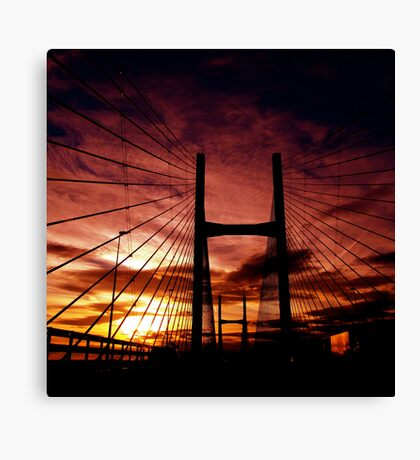 The Road To Swansea Canvas Print