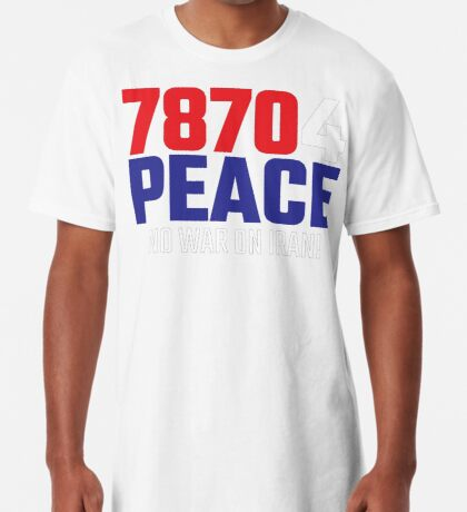 78704 (for) PEACE - No War on Iran! Long T-Shirt