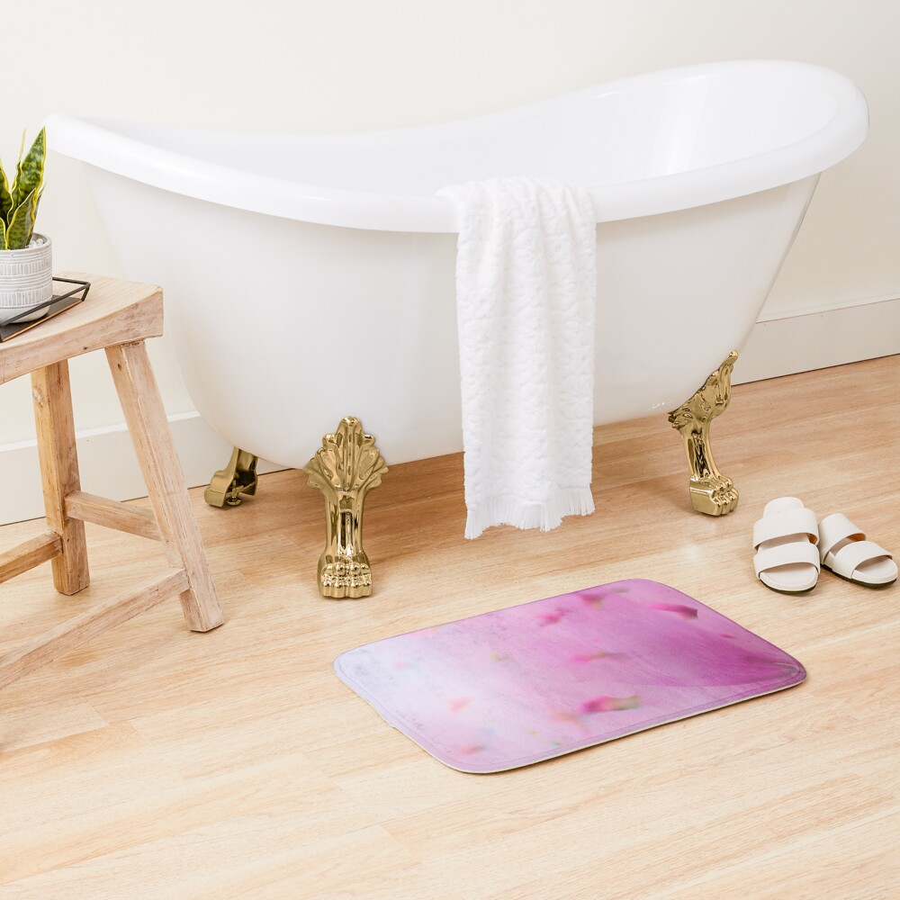 Watercolor Magnolia Bath Mat