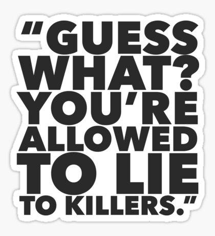 Murder Squad True Crime Sticker