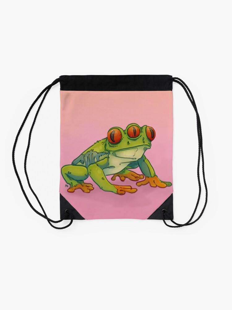 Alternate view of 3 EYES FROG Drawstring Bag