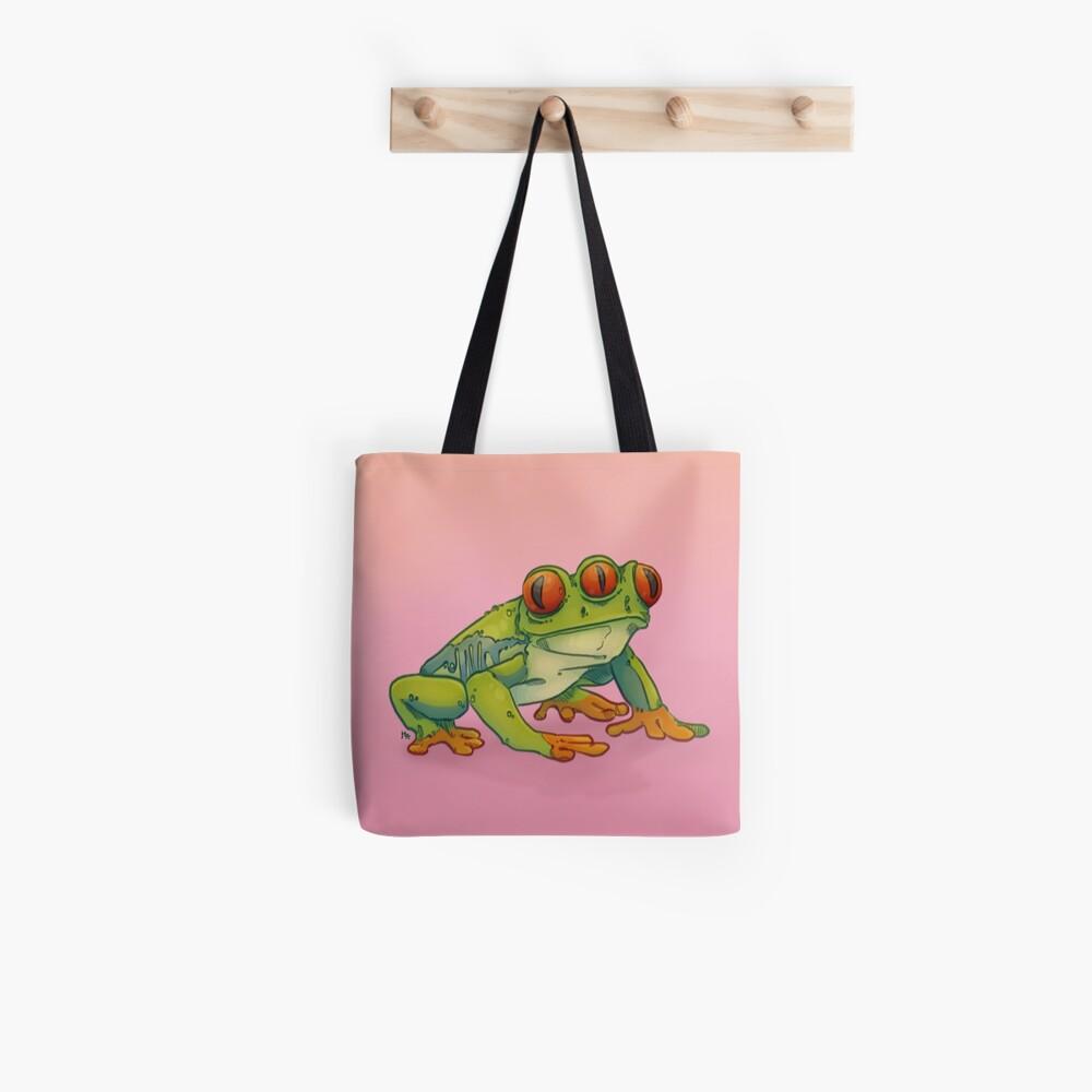 3 EYES FROG Tote Bag